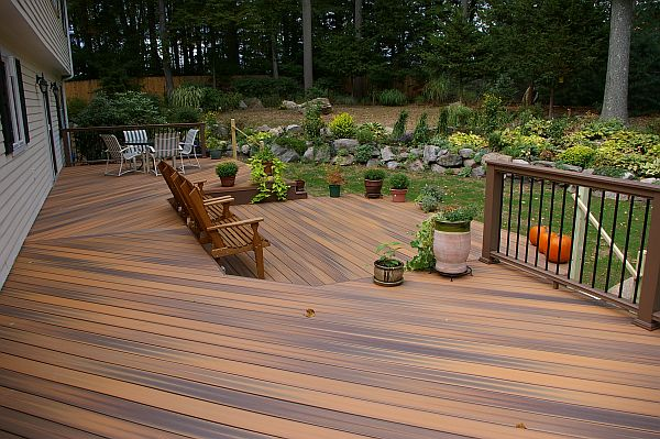 wooden decking backyard DIY Deck Stain Removal: Steps & Tips to Follow