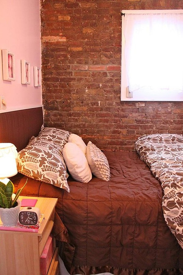 Small Condo In New York Charms With Its Exposed Brick Walls