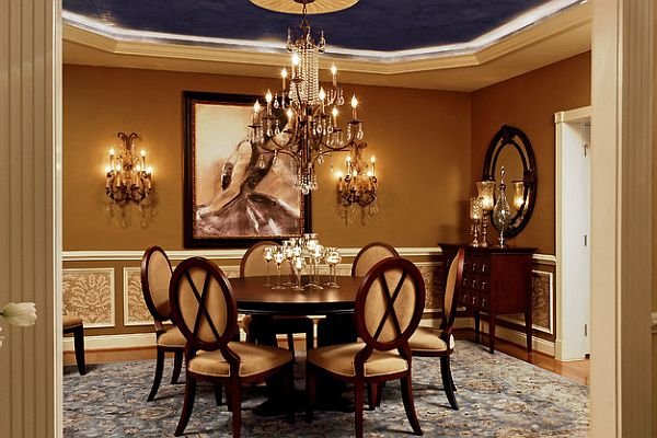 Dining Out in Your New Navy Blue Dining Room on Dining Table Ceiling Design  id=39511