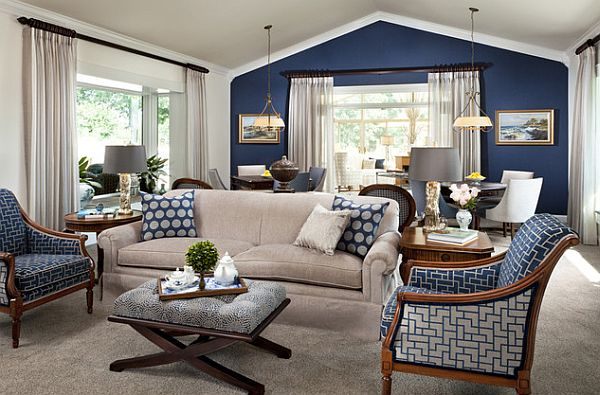 Blue Grey Colored Rooms