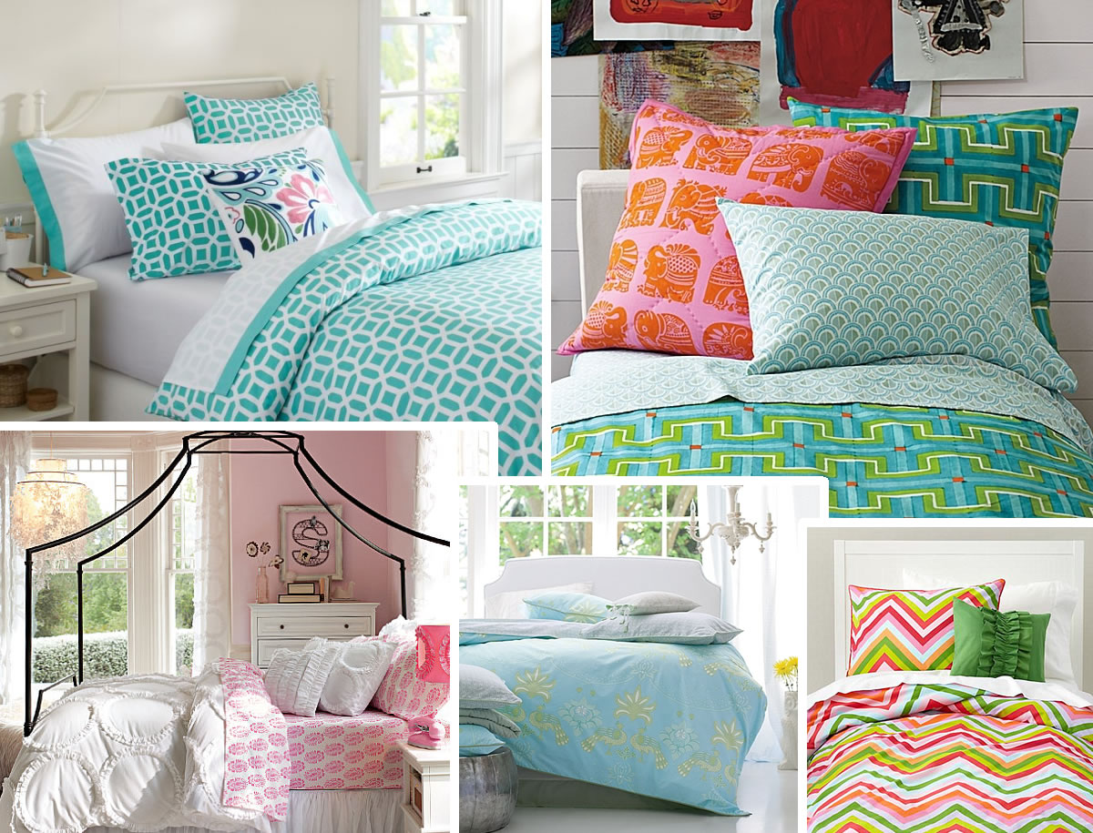 Stylish Bedding for Teen Girls on Teenage Bed  id=79743