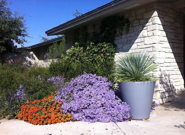 purple and orange flower garden Garden Pathway Ideas for Fall