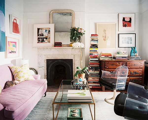 Navy And White Armchair