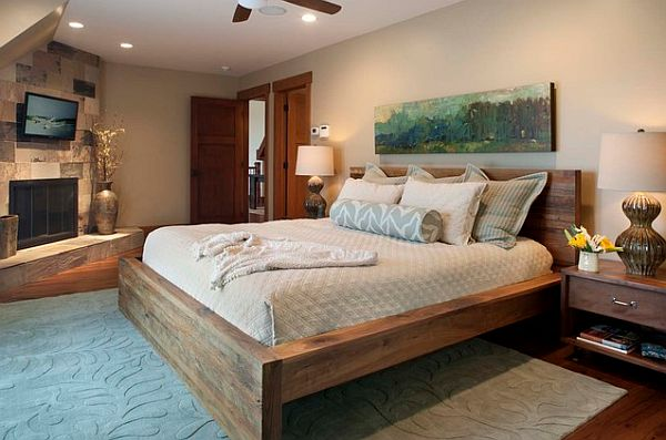 wood bed frame plans queen