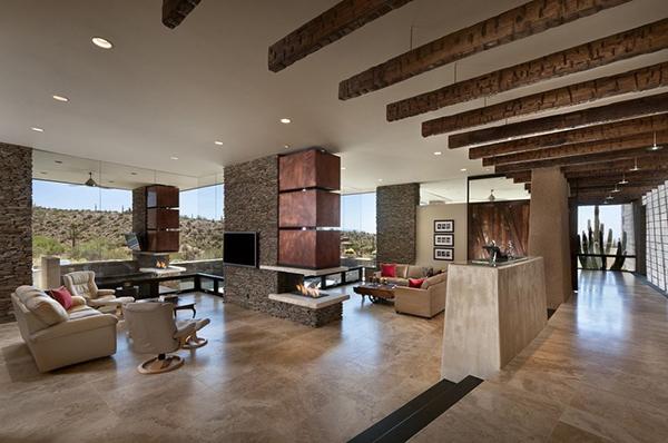 Modern Desert House Huge Living Room Decor Decoist