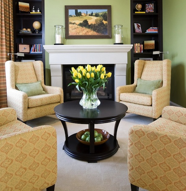 round coffee tables for a more usable space