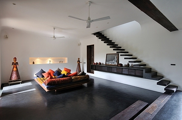 South Indian Retreat Combines Cool Local Architectural | Interior Staircase Designs For Indian Homes
