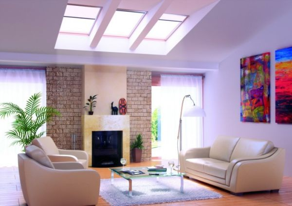30 Inspirational Ideas for Living Rooms with Skylights on Beautiful Room  id=49178