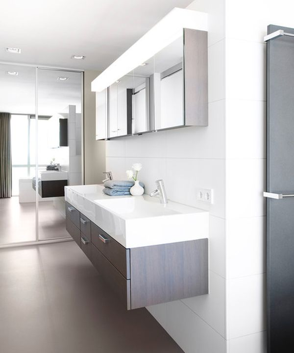 Modern Bathroom Double Sink - Home Decorating Ideas