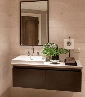 27 Floating Sink Cabinets and Bathroom Vanity Ideas View in gallery Sporadic presence of natural green to liven up the floating sink  cabinet
