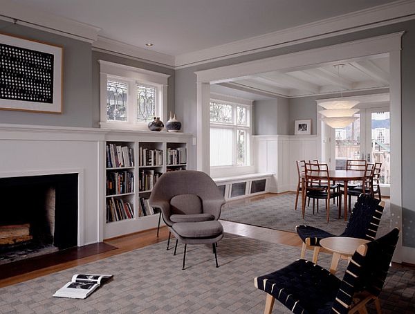 Traditional Library Design With Built In Bookshelves Decoist