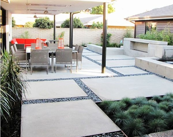 12 DIY Inspiring Patio Design Ideas on Concrete Slab Backyard Ideas id=33765