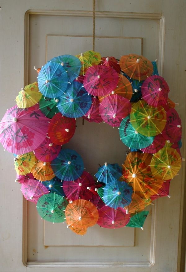 Round Christmas Decorations Hung Doors