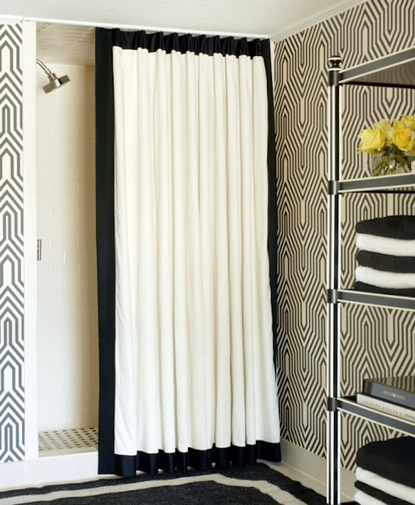white patterned curtain ideas