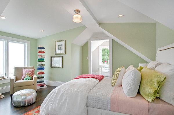 Living Room Green Walls
