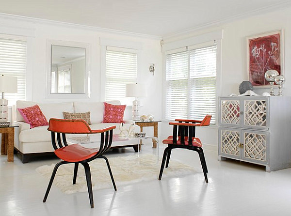 White Paint Living Room Walls