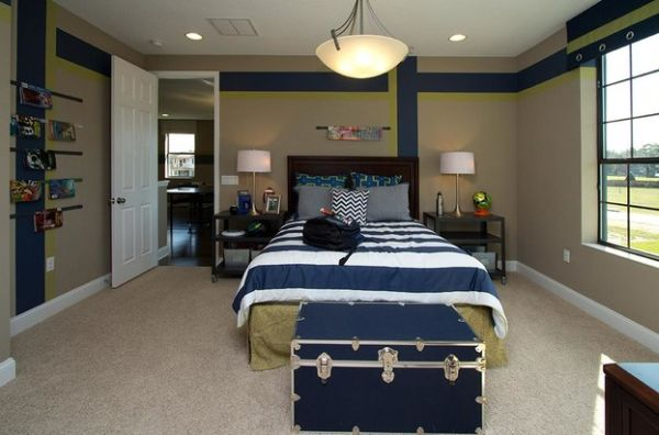 Contemporary teen boys' bedroom looks both practical and ... on Cool Rooms For Teenage Guys  id=23507
