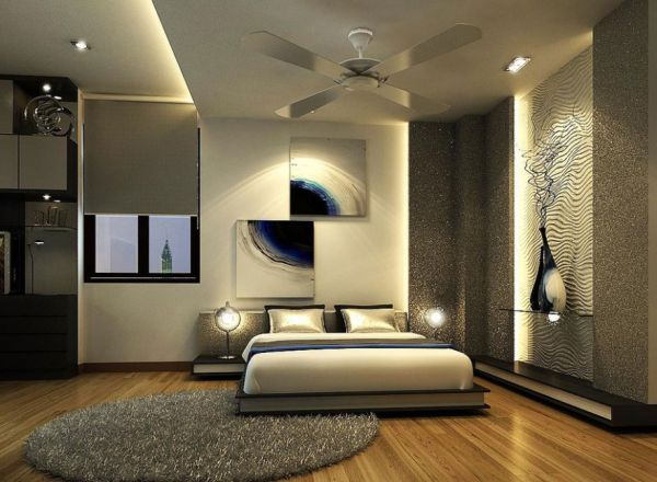 View In Gallery Gorgeous And Glamorous Silver Bedroom Ideal For The Contemporary Home