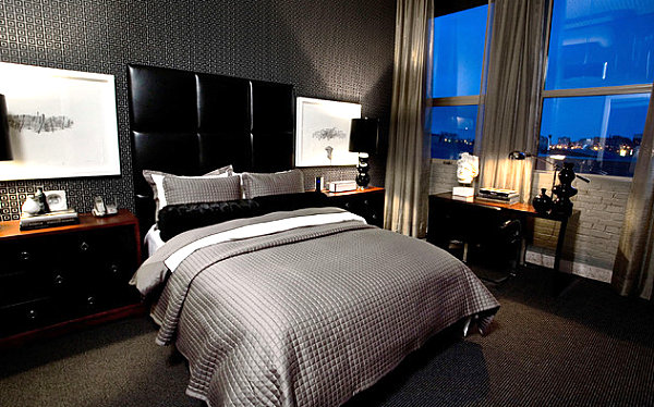 His and Hers: Feminine and Masculine Bedrooms That Make a ... on Bedroom Ideas For Men Small Room  id=46272