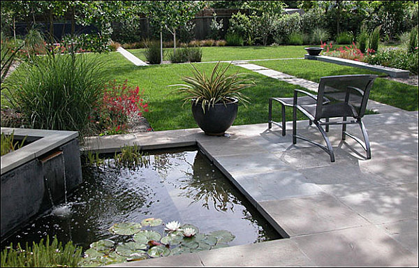Modern Landscape Design Tips for a Manicured Yard on Modern Backyard Water Feature id=63817
