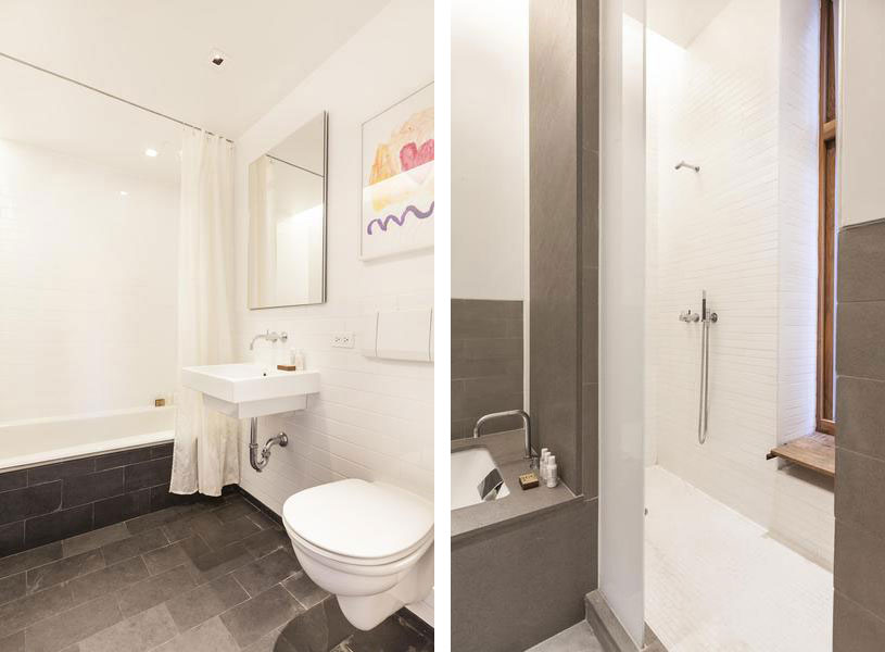 Contemporary SoHo Apartment In New York Displays Divine ... on Apartment Bathroom  id=57965
