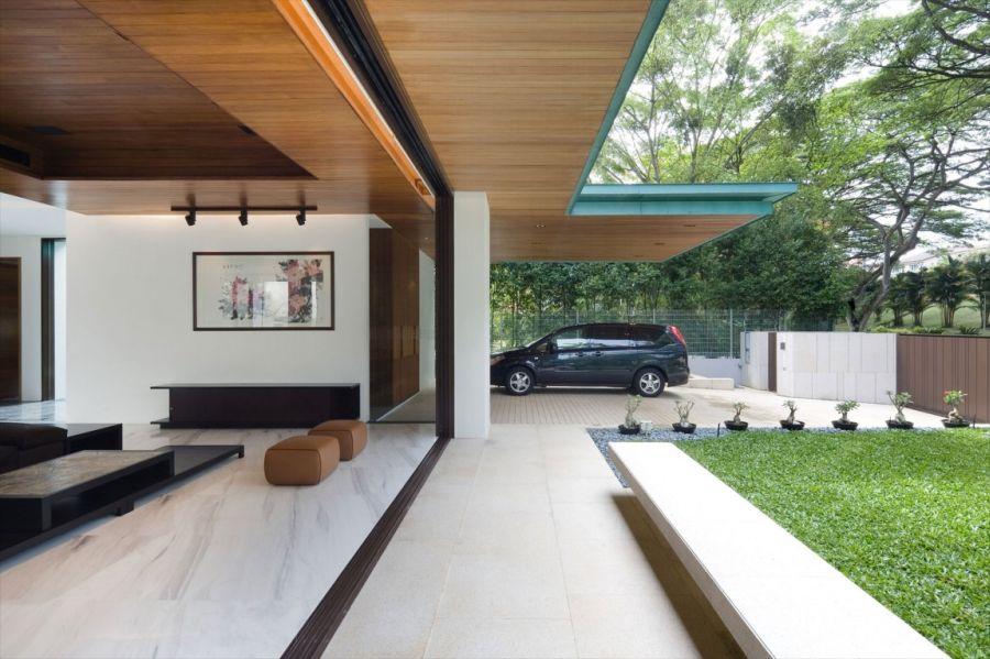 Metallic Exterior Meets Modern Interiors At Singapores Green House