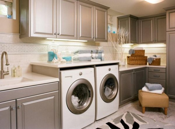 33 Laundry Room Shelving And Storage Ideas on Laundry Cabinets  id=68249