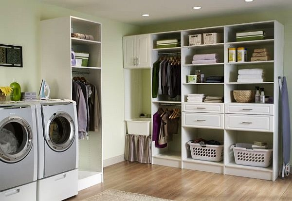 33 Laundry Room Shelving And Storage Ideas on Laundry Room Shelves Ideas  id=83500