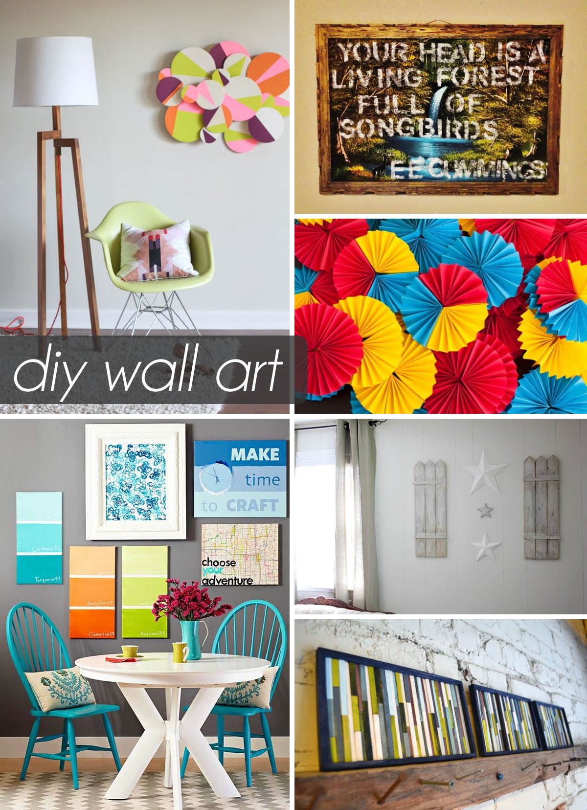 50 Beautiful DIY Wall Art Ideas For Your Home on Creative Wall Art Ideas  id=47413