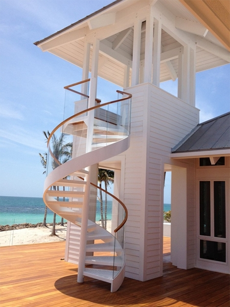 15 Spiral Staircases That Pave The Way To Cloud Nine | Staircase Outside House Design | Curved | Modern | Cool | Residential | Up Balcony