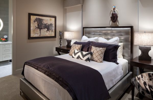 View In Gallery Purple And Silver Make A Glamorous Combination The Bedroom