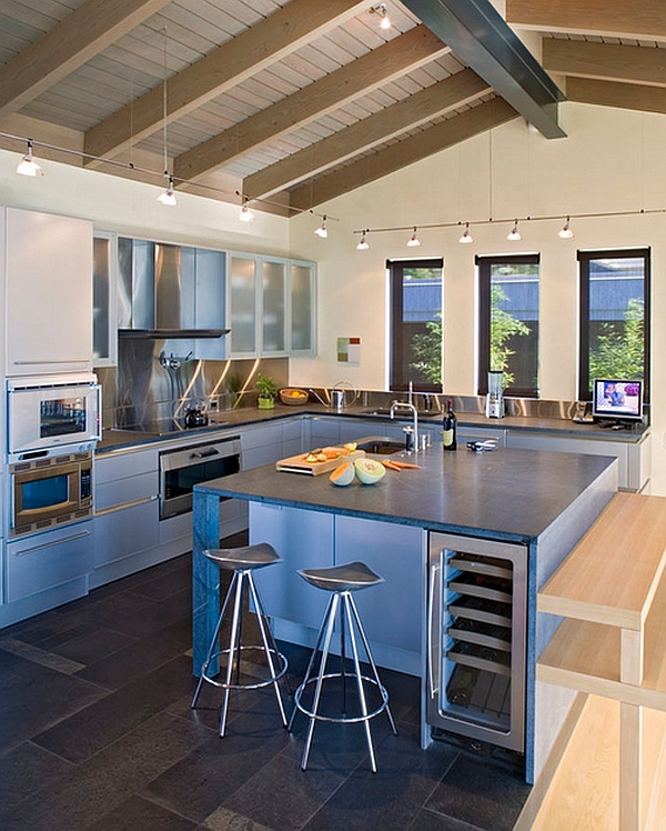 10 Trendy Bar And Counter Stools To Complete Your Modern ... on Modern Kitchen Counter  id=98282