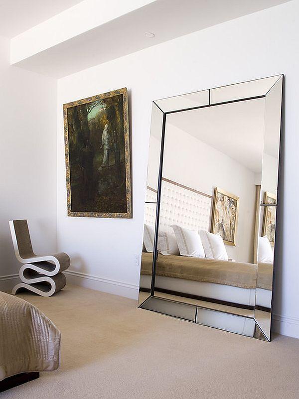 Large Bedroom Mirrors Fantastic Decoration On The Floor Design Noerdin