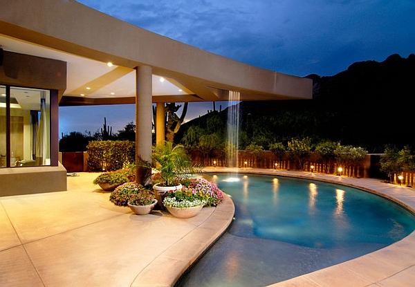 Breathtaking Pool Waterfall Design Ideas on Modern Backyard Ideas With Pool id=24372