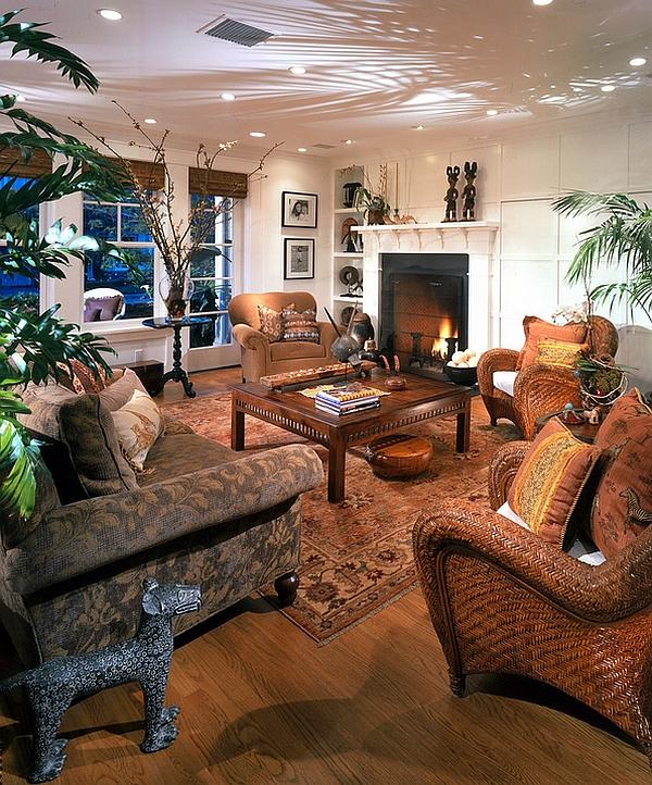 African Themed Living Room Decor - Modern House