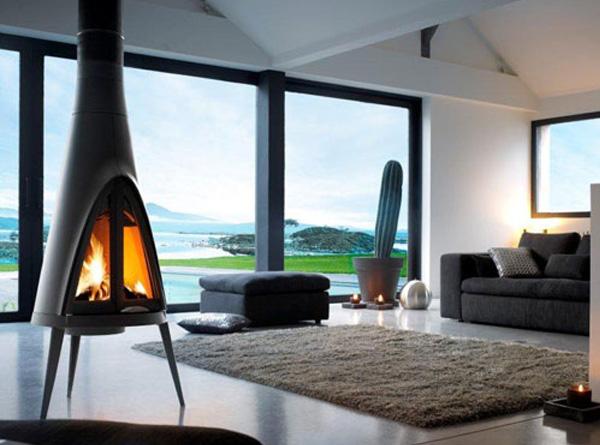 Wood Burning Corner Fireplace Designs