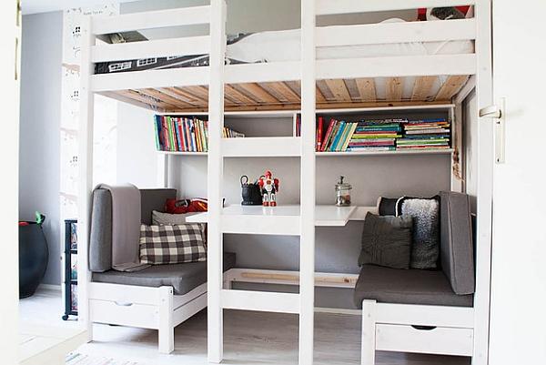loft beds with desks underneath 30