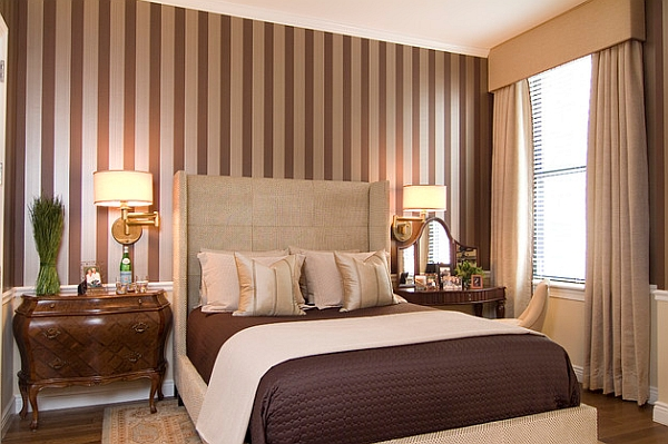 Silver And Brown Stripes Blend In With The Color Scheme Of
