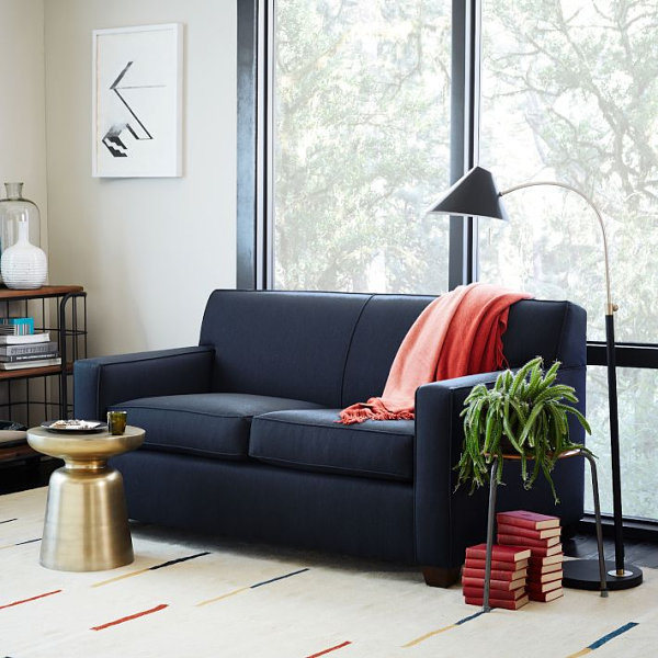 Streamlined Navy Sofa Decoist