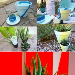 Two Tone Painted Pots Fancy Diy Project