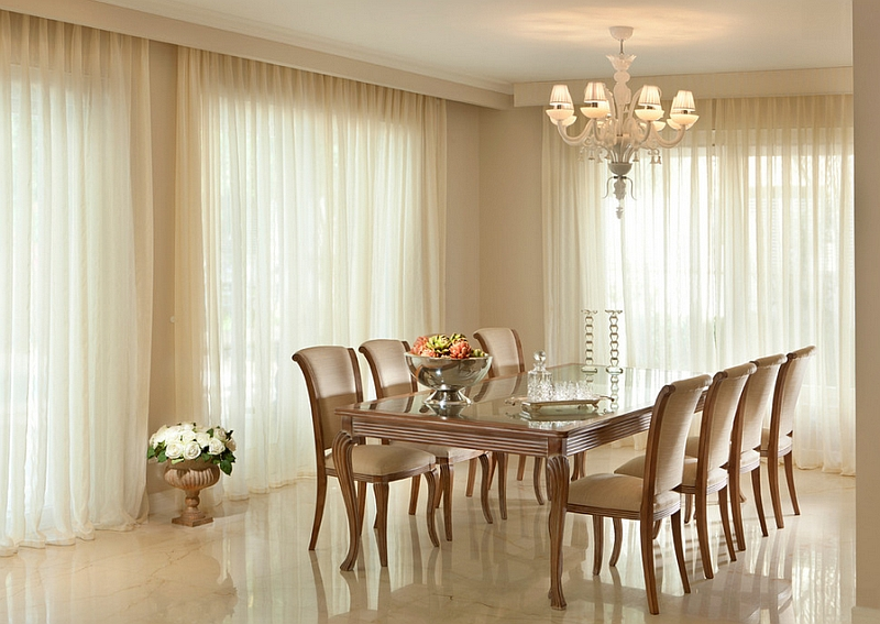 Sheer Curtains Ideas, Pictures, Design Inspiration on Dining Room Curtain Ideas  id=28767