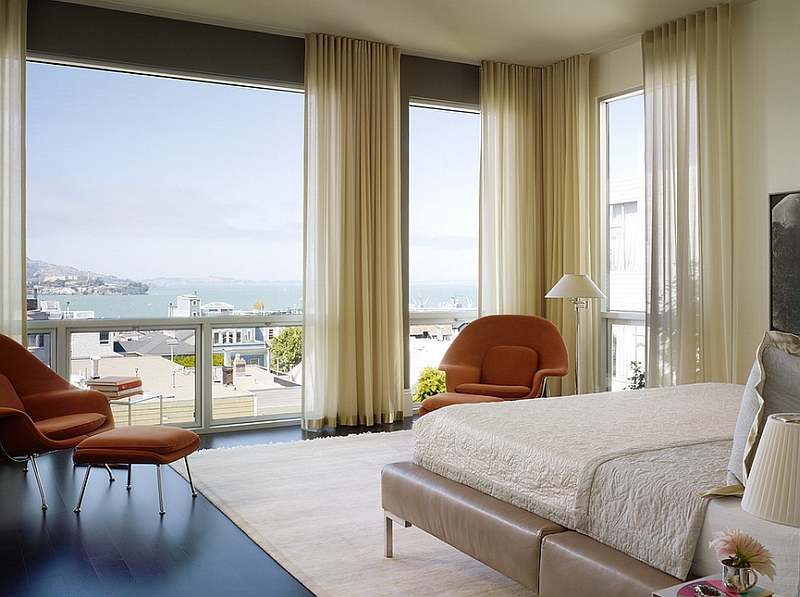 Sheer Curtains Ideas, Pictures, Design Inspiration on Master Bedroom Curtains  id=51570