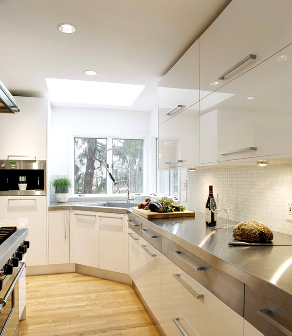15 Kitchens With Stainless Steel Countertops on Modern Kitchen Counter  id=80221