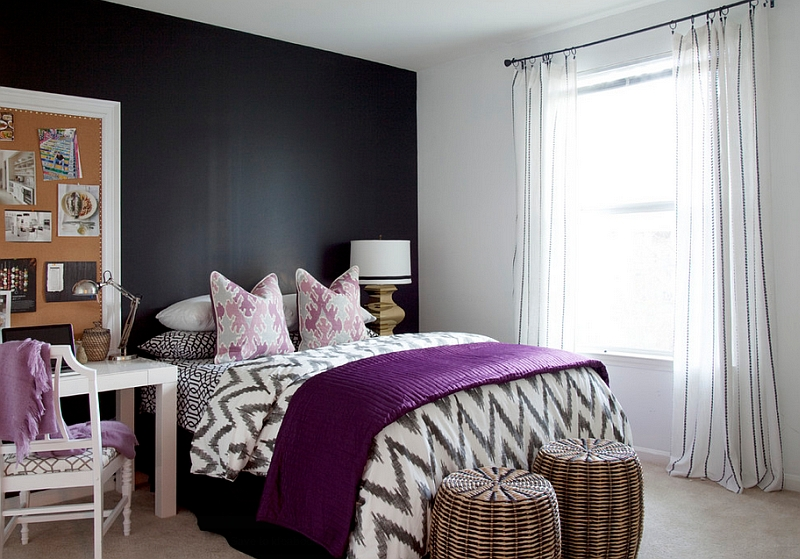 Bold Black And White Bedrooms With Bright Pops of Color on Pictures Room Decor  id=71341