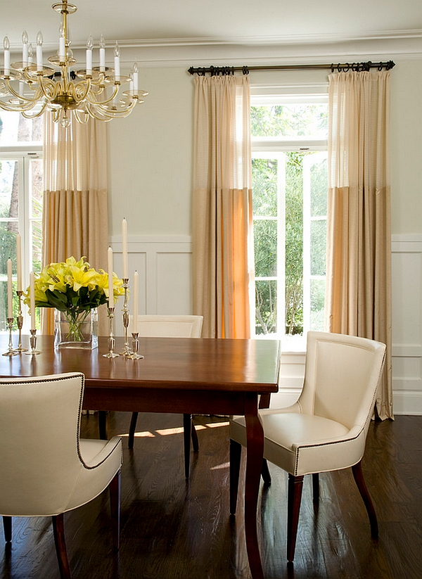 Sheer Curtains Ideas, Pictures, Design Inspiration on Dining Room Curtain Ideas  id=14723