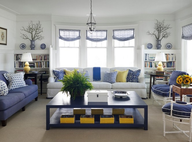 Blue And White Living Room Decorating Ideas 1000 About Rooms On Pinterest Navy