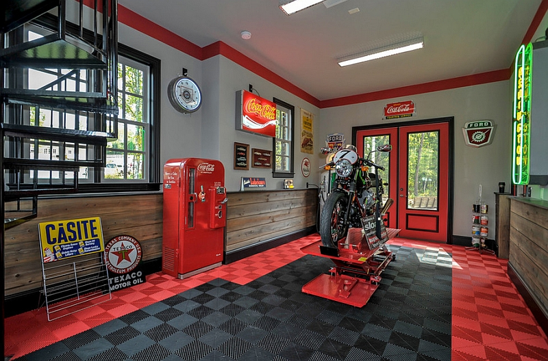 Give Your Garage A Nostalgic Makeover With Some Coca Cola