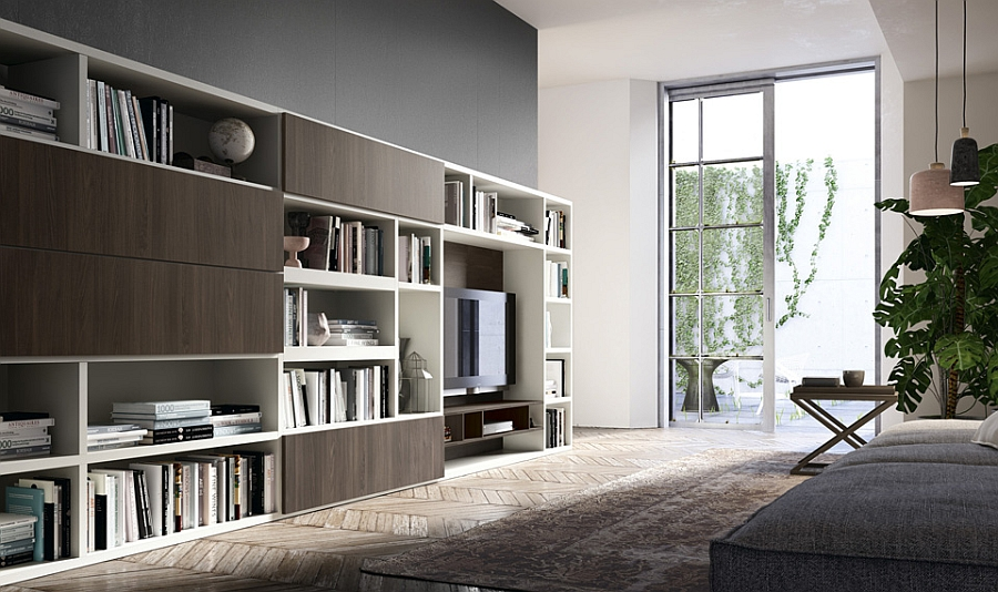 Contemporary Living Room Wall Units And Libraries, Ideas on Living Room Wall Units id=53009