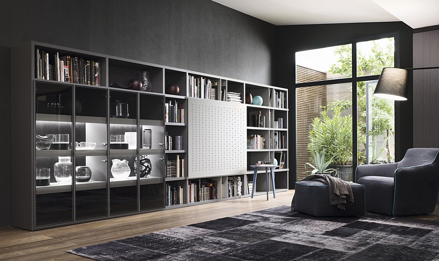 Contemporary Living Room Wall Units And Libraries, Ideas on Living Room Wall Units id=70249