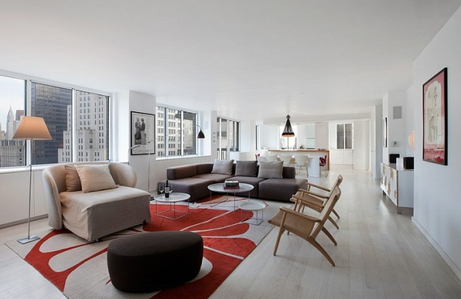 View In Gallery Notice How The Large Chandelier Holds Its Own Open Floor Plan Living E
